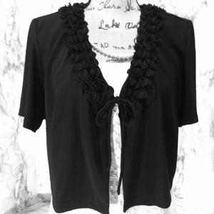 Julian Taylor black dress shrug